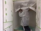 マンション内部塗装中クローゼット