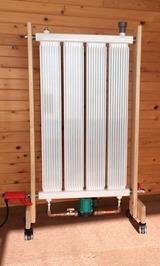 コンパクトタイプの輻射式パネル暖房