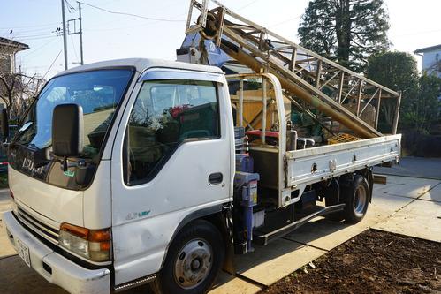 井戸の掘削作業2