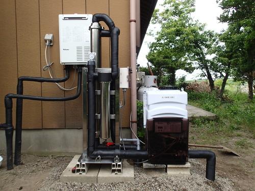 常総市向け浄水装置設置1