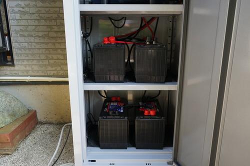独立型ソーラーシステム設置 蓄電池