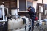 受水槽の清掃中1