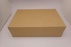 あけやすいように設計された段ボール地の箱