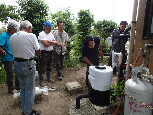 常総市向け浄水装置設置完了の様子