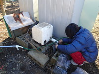 井戸ポンプ交換の様子