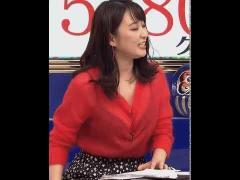 元TBS枡田絵理奈、生放送中の「バスト服ずり落ち放送事故」に絶賛の嵐!