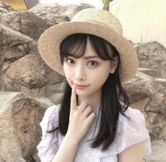 NMB48梅山恋和の麦わら帽ショットが可愛すぎる「透明感凄すぎて透けてみえる」