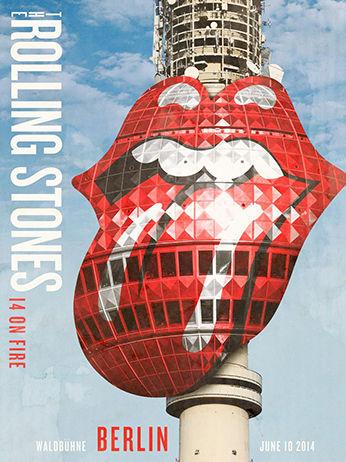 「ローリング・ストーンズ」ベルリン(ドイツ)ポスターデザイン