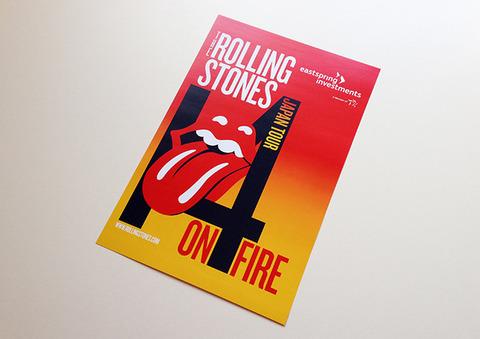 「14 ON FIRE Japan Tour」リーフレットデザイン