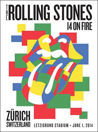 「ローリング・ストーンズ」チューリッヒ(スイス)ポスターデザイン