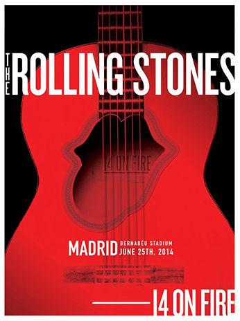 「ローリング・ストーンズ」マドリード(スペイン)ポスターデザイン