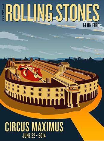 「ローリング・ストーンズ」ローマ(イタリア)ポスターデザイン1