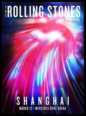 「ローリング・ストーンズ」上海(中国)ポスターデザイン