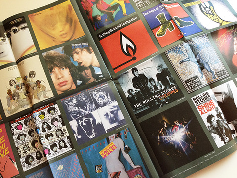 フリーペーパー「THE ROLLING STONES ALBUMS IN KKBOX」中面デザイン