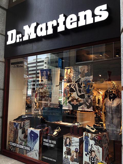 ドクターマーチン・店舗・ディスプレイデザイン