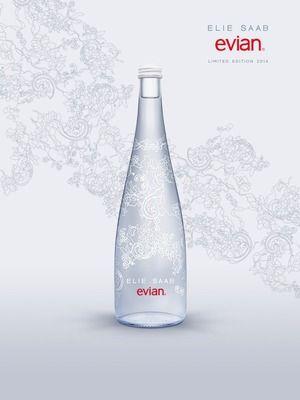 エビアン・デザイナーズボトル・エリー・サーブ・バッケージデザイン