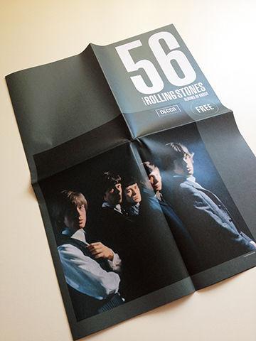 フリーペーパー「THE ROLLING STONES ALBUMS IN KKBOX」表紙デザイン
