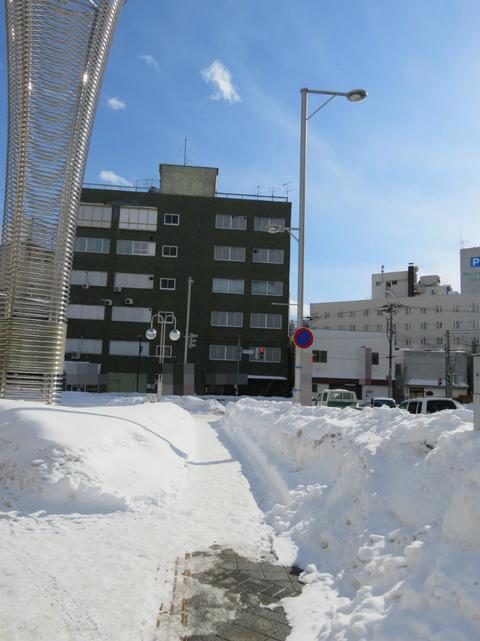 雪に埋もれた街