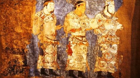 ソグド人の壁画4