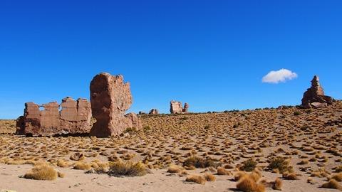 ボリビア 岩の丘