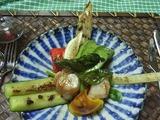 温野菜とホタテ