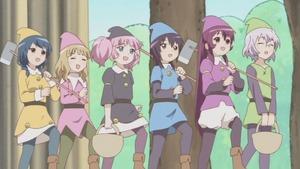 結衣、ちなつ、綾乃、千歳、向日葵、櫻子