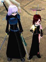 漆黒の剣士服ロング!