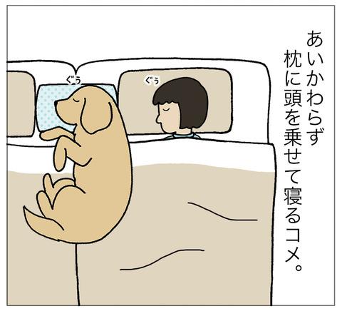 まくらに寝る01