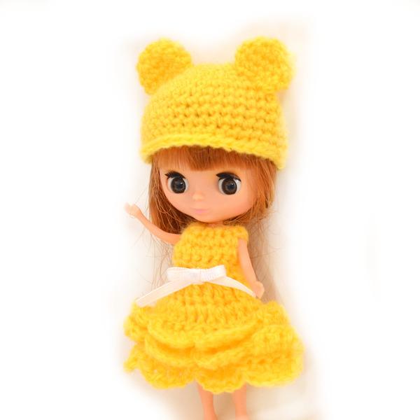 プチブライス編みドレス