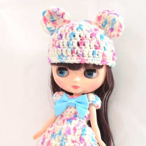 ミディブライス編みドレス右