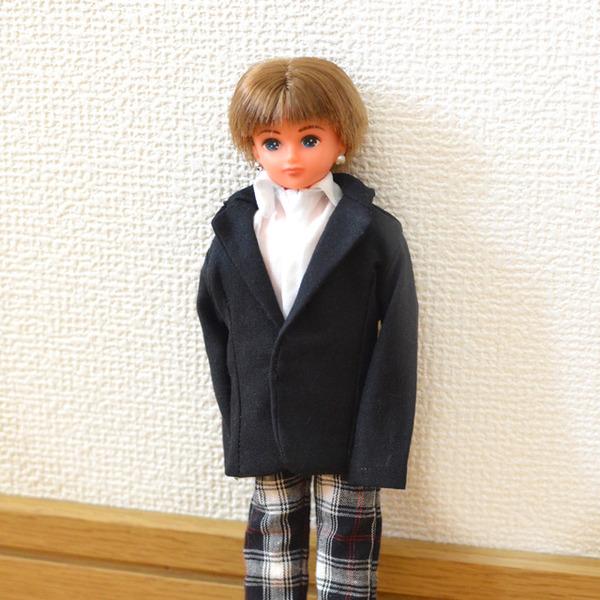 リカちゃんボーイフレンド黒のジャケット