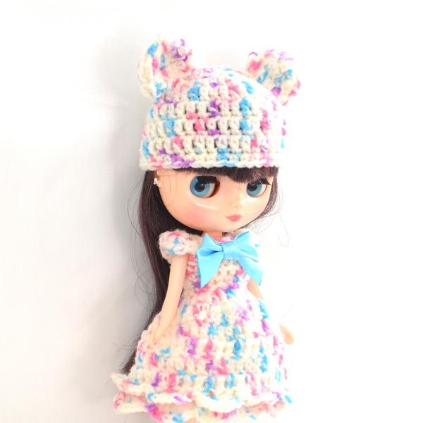 ミディブライス編みドレス左