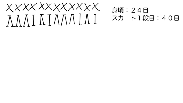 ミキちゃんマキちゃん編みドレススカート