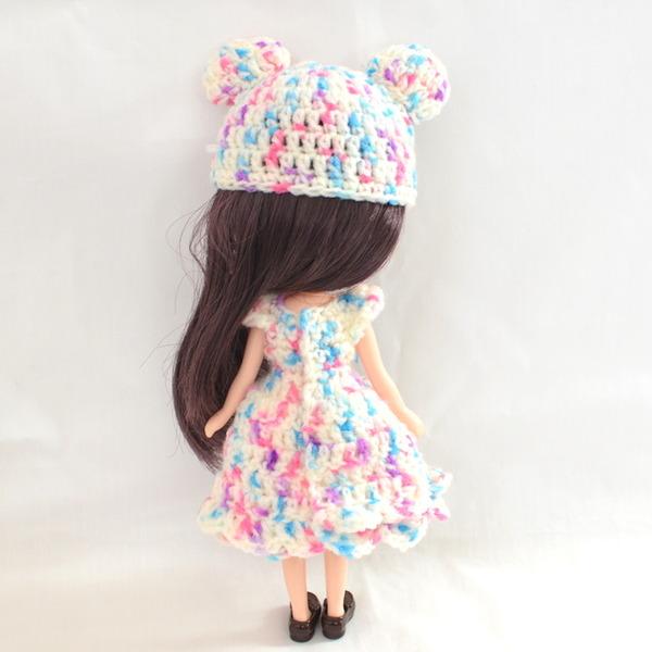 ミディブライス編みドレス後ろ