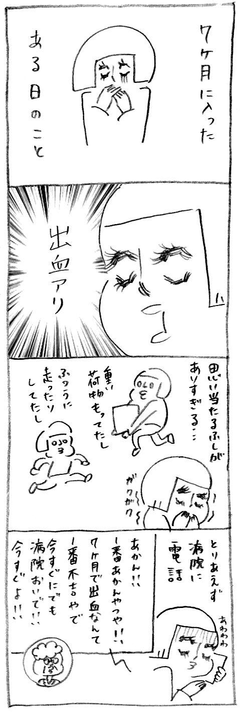 【妊娠日記33】出血アリ1