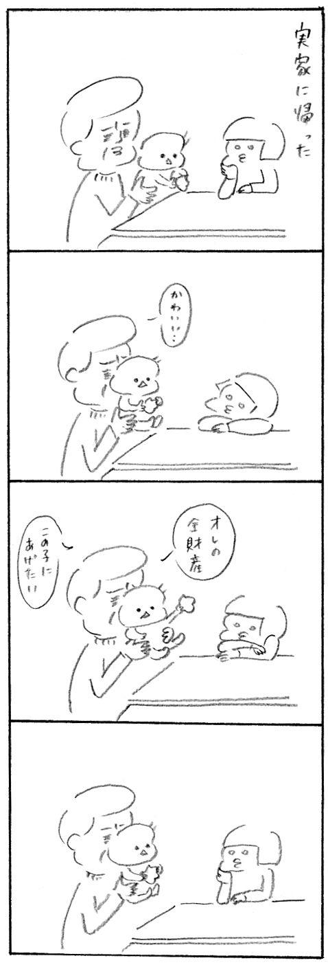 【育児日記39】帰省1