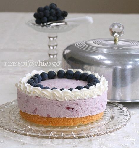 きらきら葡萄ゼリーのムースケーキ