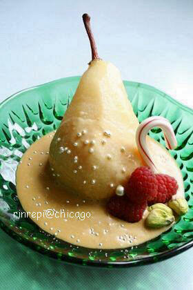 洋梨丸ごとコンポート キャラメルチーズソース