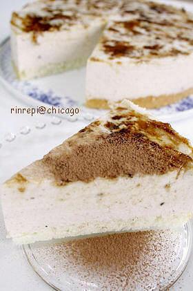 カラメルバナナムースケーキ