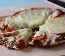 フライパンで焼くカレーヨーグルト米粉ピザ