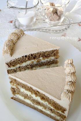 カフェオレ ラムカスタードケーキ