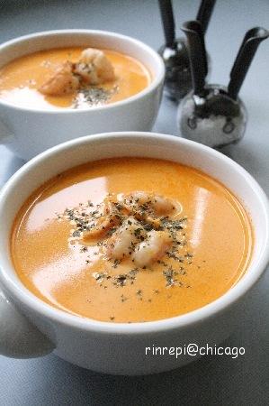 シュリンプビスクスープ