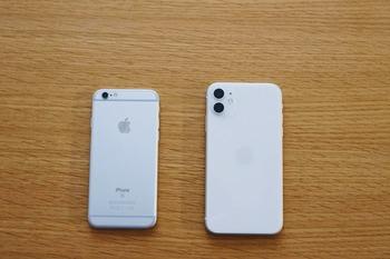iPhone11とiPhone6sの比較