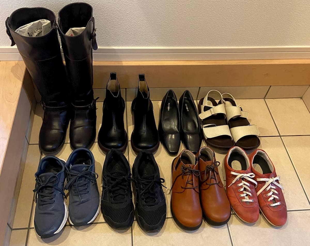 私のもっている靴