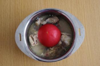 トマトと鯖缶のリゾット