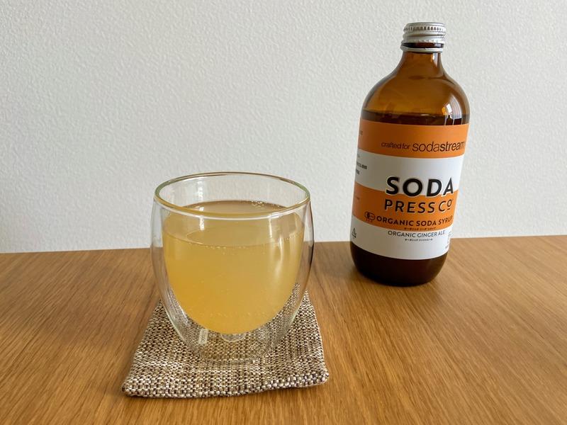 ソーダストリームのシロップを炭酸水で割る