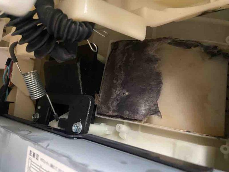 ドラム式洗濯乾燥機のゴミ