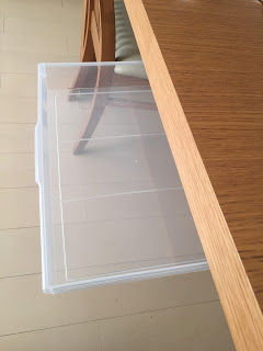 ダイニングテーブルに引き出しを付ける hspace=