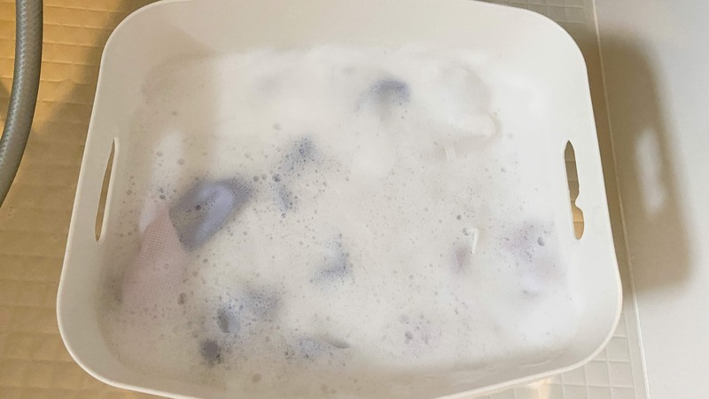 I酸素系漂白で浸け置き