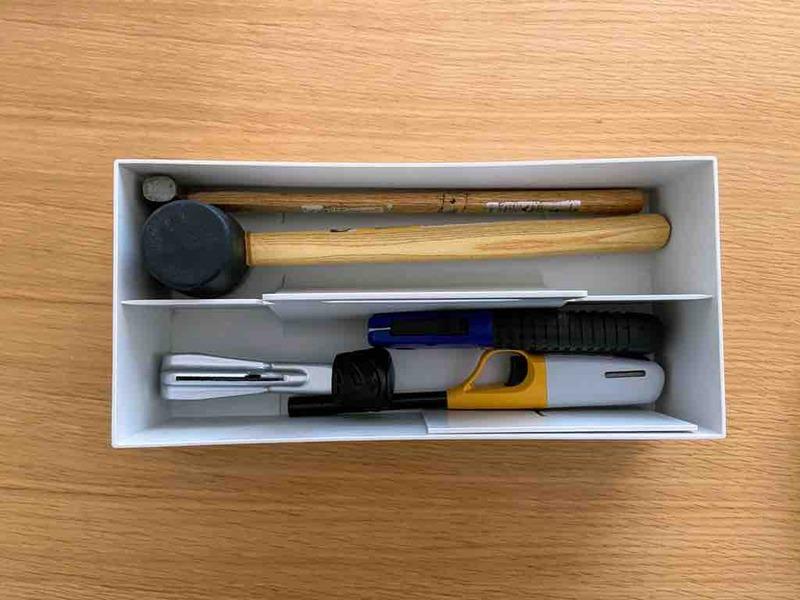 長い工具は別のケースへ